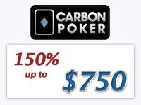 Carbon Poker Signup Bonus