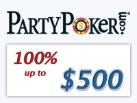 Party Poker Signup Bonus