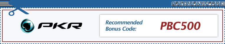 PKR Bonus Code 2018